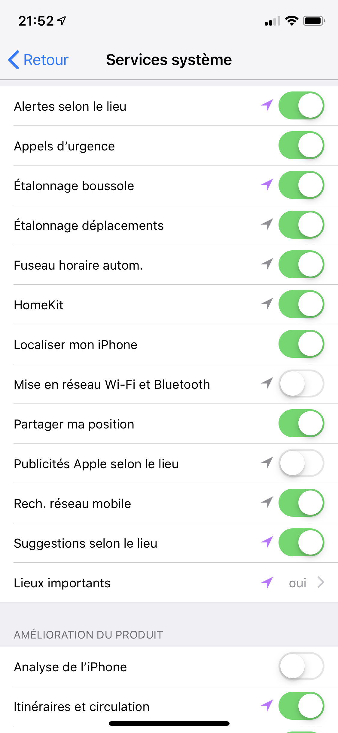 localisation toujours active iphone 7